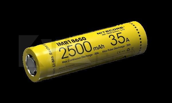Nitecore 18650IMR Li-Ion Akku - 2500mAh/35A
