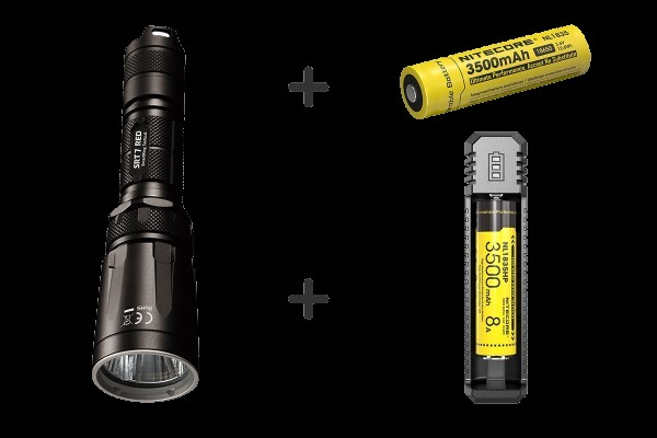 Nitecore Bundle 1 - SRT7RED, NL1835, UI1