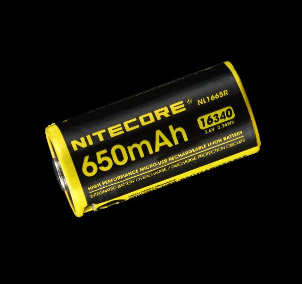 Nitecore Li-Ion Akku Typ 16340 - 650mAH - NL1665R